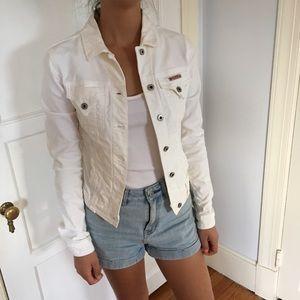 Hudson Jeans white denim jacket